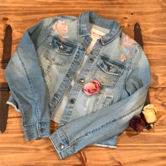 Mossimo Supply Co. Jackets & Blazers - Embroidered Roses Jacket